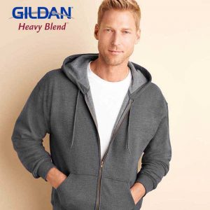 Gildan 18700 Heavy Blend 經典復古成人連帽拉鏈衛衣