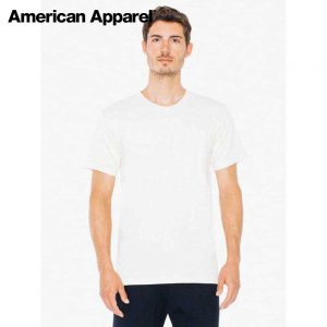 American Apparel 2001ORGW 4.3oz Organic Fine Jersey T-Shirt (US Size)