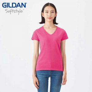 Gildan 63V00L 4.5oz SoftStyle 女裝環紡 V 領 T 恤