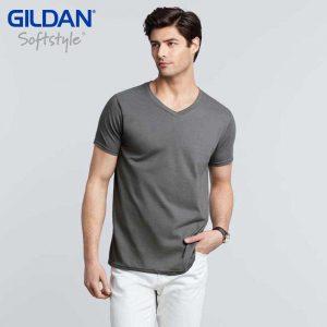 Gildan 64V00 4.5oz Softstyle 成人環紡 V 領 T 恤 (美國尺碼)
